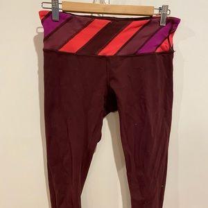 Lululemon Wonder Under Crops with cute waistband